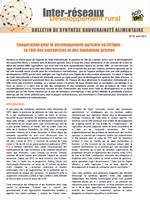 Coopération pour le développement agricole en Afrique : le rôle des entreprises et fondations privées