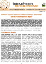 Politiques agricoles et finances publiques en Afrique : éléments de suivi et d'évaluation depuis Maputo