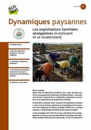 Les exploitations familiales sénégalaises investissent et se modernisent