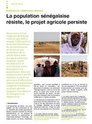 Etude de cas Sénéthanol-Senhuile. La population sénégalaise résiste, le projet agricole persiste