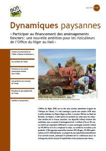 « Participer au financement des aménagements fonciers : une nouvelle ambition pour les riziculteurs de l'Office du Niger au Mali »