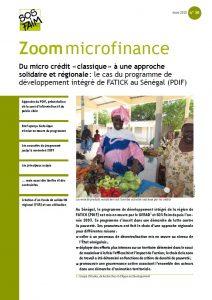 Du micro crédit « classique » à une approche solidaire et régionale : le cas du programme de développement intégré de FATICK au Sénégal (PDIF)