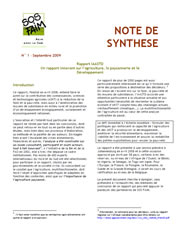Rapport IAASTD : note de synthèse