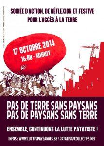 Le temps des patates – mobilisation le 17 octobre !