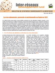 La crise alimentaire, pastorale et nutritionnelle au Sahel en 2012