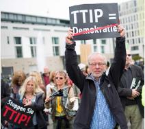 Manif contre le TTIP