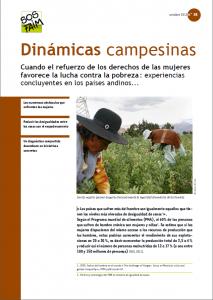 Cuando el refuerzo de los derechos de las mujeres favorece la lucha contra la pobreza : experiencias concluyentes en los países andinos…
