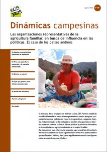 Las organizaciones representativas de la agricultura familiar, en busca de influencia en las políticas. El caso de los países andinos