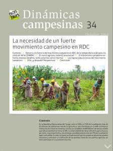 La necesidad de un fuerte movimiento campesino en RDC
