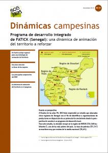 Programa de desarrollo integrado de FATICK (Senegal): una dinámica de animación del territorio a reforzar