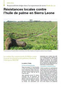 Étude de cas – Responsabilités belges dans l'accaparement de terres