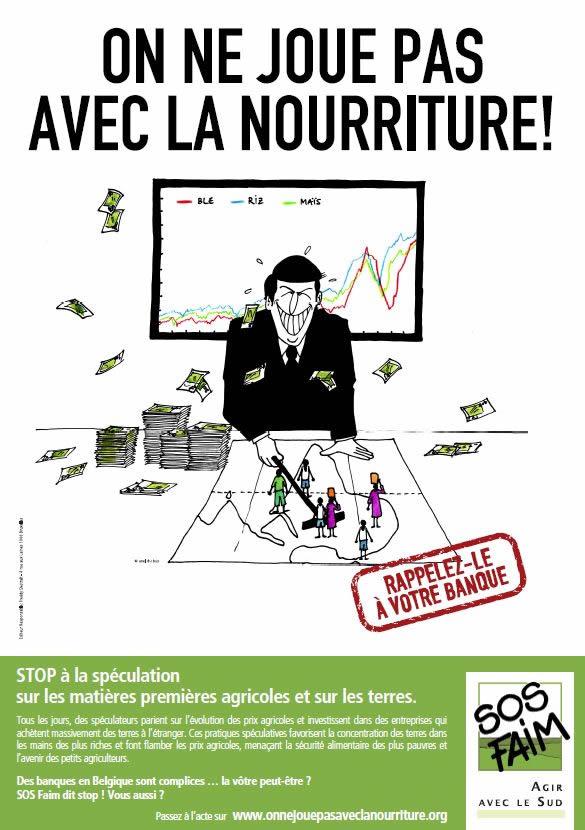 Stop à la spéculation sur les l'alimentation : les ONG demandent aux parlementaires européens de réagir