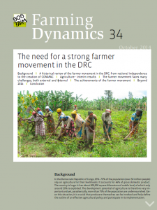 The need for a strong farmer movement in the DRC