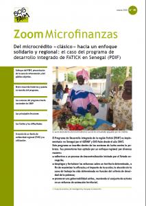 Del microcrédito « clásico » hacia un enfoque solidario y regional : el caso del programa de desarrollo integrado de FATICK en Senegal (PDIF)