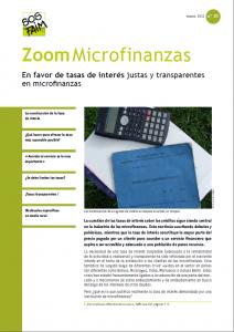 En favor de tasas de interés justas y transparentes en microfinanzas