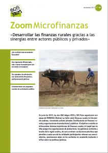 «Desarrollar las finanzas rurales gracias a las sinergias entre actores públicos y privados»