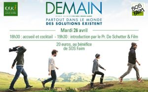 Projection du film «Demain» au profit de SOS Faim