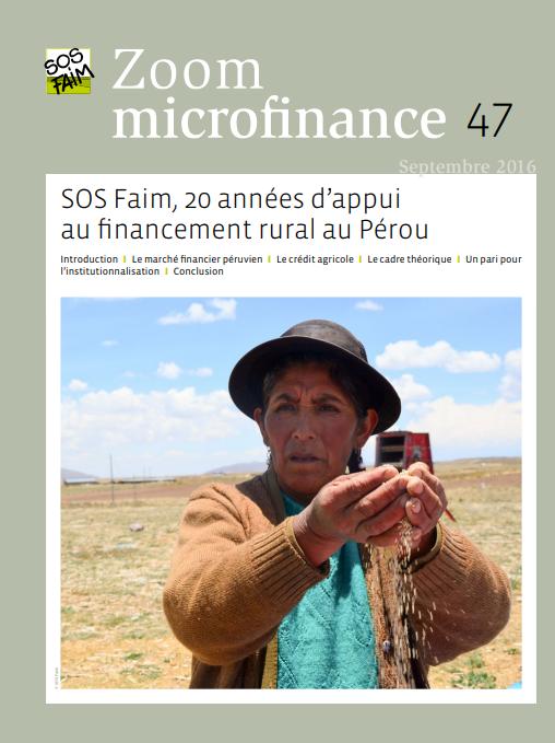 SOS Faim, 20 années d'appui au financement...