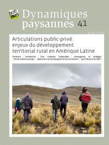 Articulations public-privé : enjeux du développement territorial rural en Amérique Latine