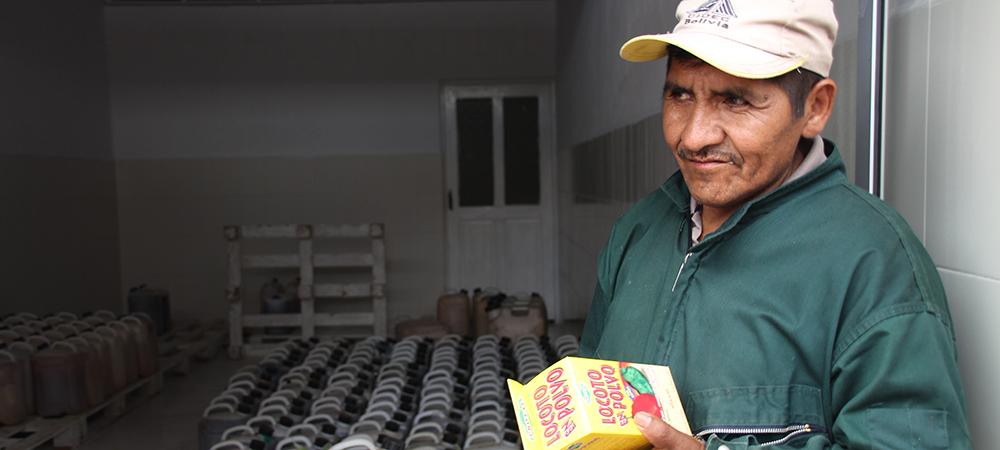 Producteur écologique en Bolivie
