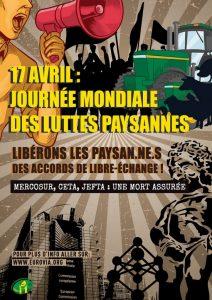 17 Avril : libérons les paysan.ne.s des accords de libre-échange !