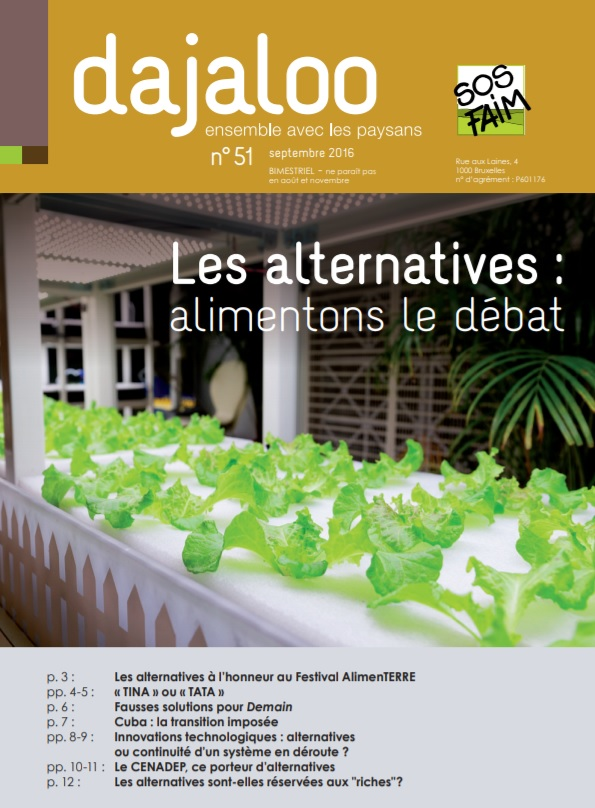 Les alternatives : alimentons le débat